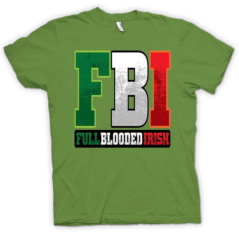 Heren T-shirt - St Patricks Day - FBI - volledig bloed Ierse