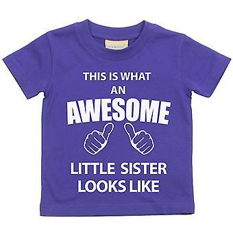 Dette er hva en Awesome lillesøster ser som lilla t-skjorte