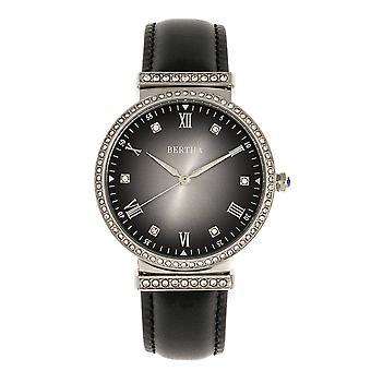 Bertha Allison läder-Band Watch - svart