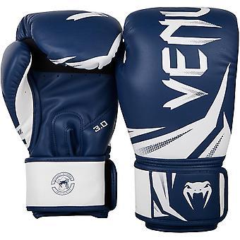 Venum Challenger 3.0 Training Boxing Gloves - Navy Blue/White