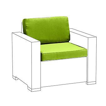 Lime 2pc cuscini sedile set per Keter Allibert California poltrona