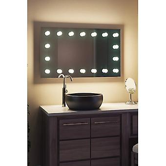 Diamante X pared Hollywood Audio espejo y Dimmable LED k413LED