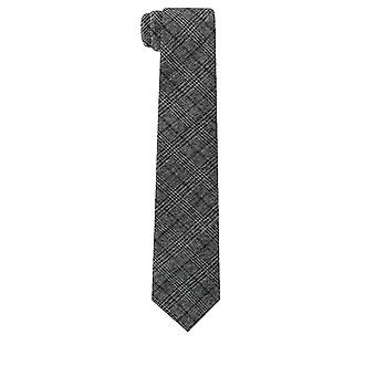 Dobell Mens Charcoal Tie Statement Check