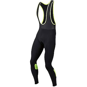 Pearl Izumi Black-Screaming Yellow Pursuit Thermal Without Chamois Bib Pants