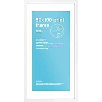 Eton marco blanco 50 x 100cm cartel / impresión marco
