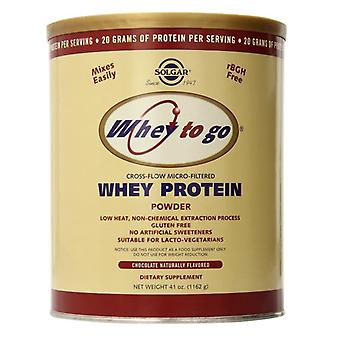 Solgar whey å gå protein Powder (Chocolate) 1162g (3673)