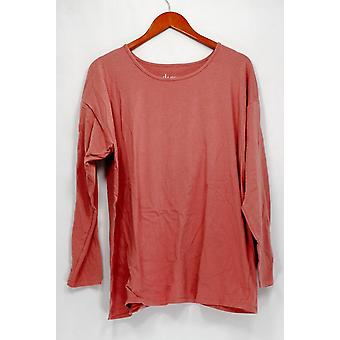 Denim & Co. Top Pullover Top with Back Crossover Pink A272162