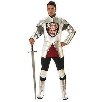 Silver Knight Valiant Medieval Renaissance Dragon Slayer Mens Costume