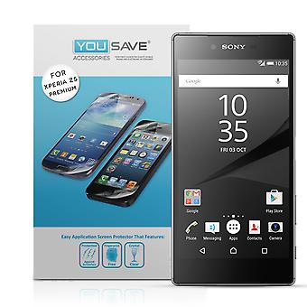 Yousave Accessories Sony Xperia Z5 Premium Screen Protectors x5