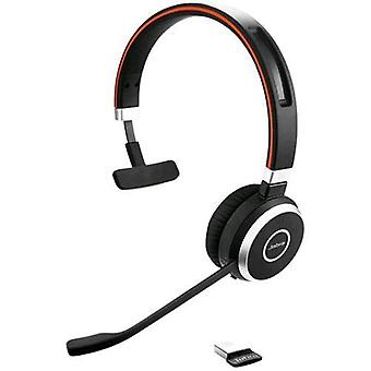 Jabra evolve 65 uc headphone mono bluetooth headset usb-black