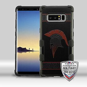 MYBAT Spartan/Black TUFF Merge Hybrid Protector Cover   for Galaxy Note 8