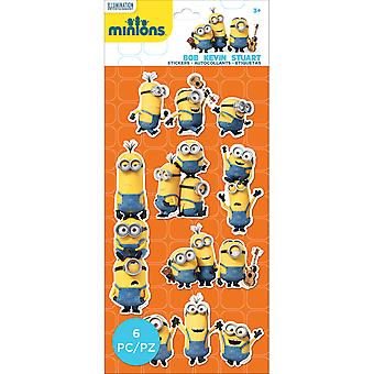 Minions Mini Flat Stickers-Minions-groep 5305006