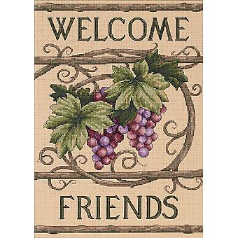 Welcome Friends Counted Cross Stitch Kit 10