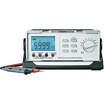 Bench multimeter digital VOLTCRAFT VC611BT Calibrated to: ISO standards CAT II 600 V Display (counts): 6000