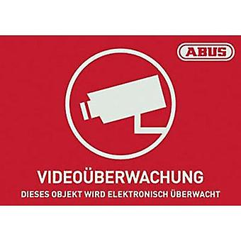 Warning label CCTV Languages German (W x H) 148 mm x 105 mm ABUS AU1420