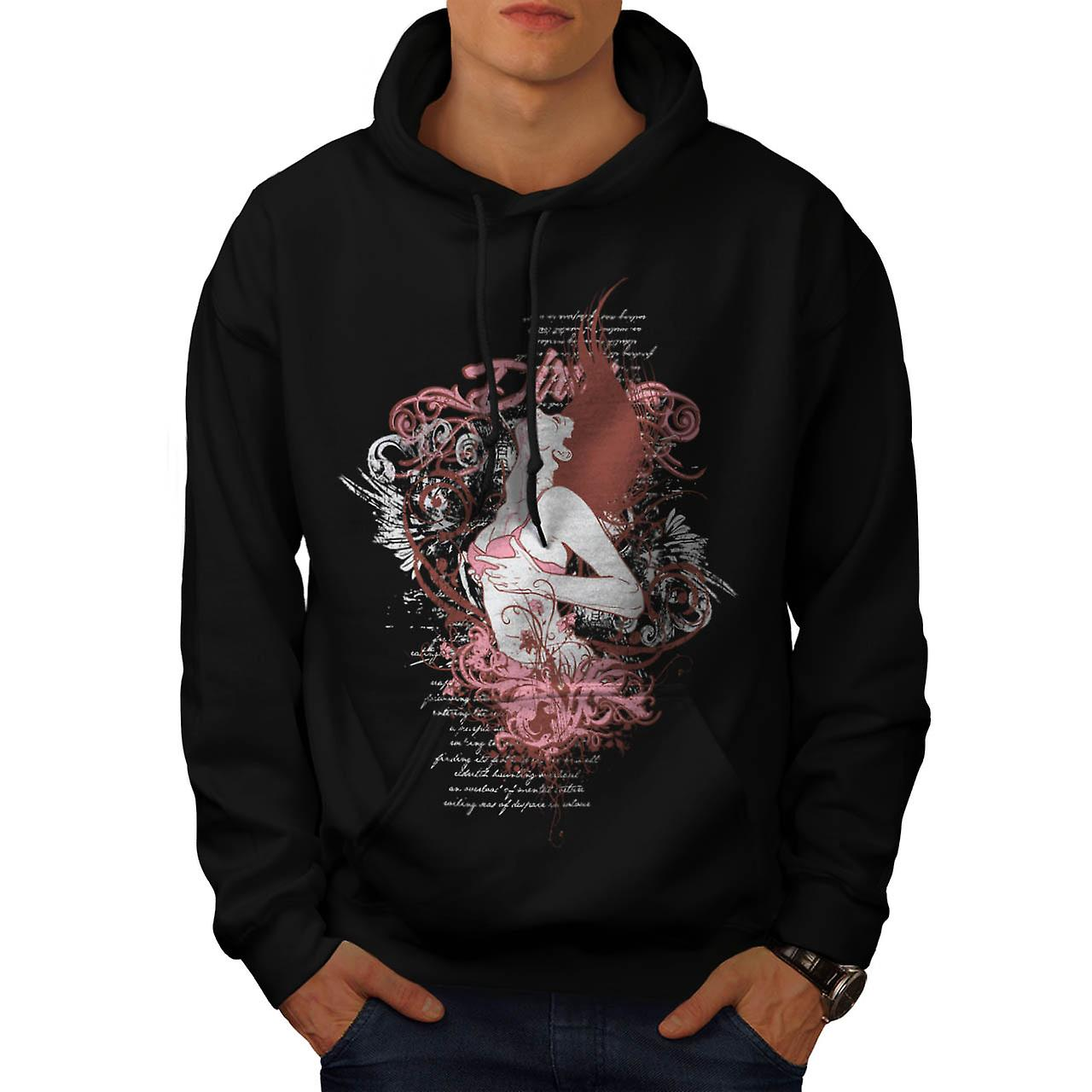 Dirty Sexy Girl Vintage Men Black Hoodie | Wellcoda