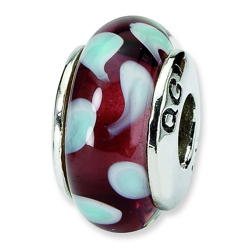 Sterling Silver Reflections Blue Murano Glass Bead Charm