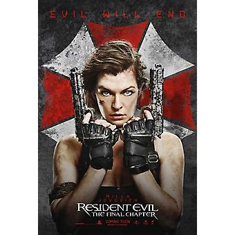 Resident Evil The Final Chapter Movie Poster (11 x 17)