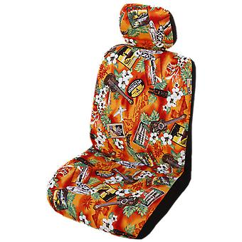 Side Airbag Optional; Kona Music Separate Headrests Hawaiian Car Seat Covers