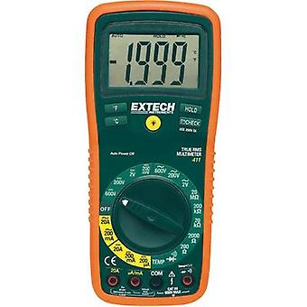 Handheld multimeter digital Extech EX411 Calibrated to: Manufacturer standards CAT III 600 V Display (counts): 2000