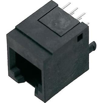 BEL Stewart Connectors 1410-4000-07 1410-4000-07 RJ12 Socket, straight Black