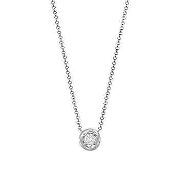 ESPRIT women's chain necklace silver cubic zirconia twist ESNL93261A420