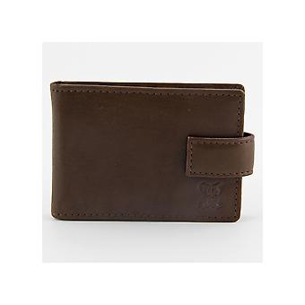 Leather Credit Card Holder in Brown