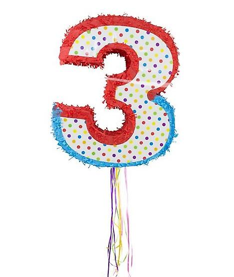Pinata number 3 Mexico party candy stash kids birthday party game