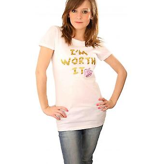 W.A.T Kitson 'I'm Worth It' White T Shirt