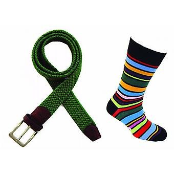 Tyler and Tyler Sock and Belt Set - Green