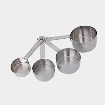 De Buyer Set of 4 Stainless Steel Meters: 60- 80 -125- 250Ml