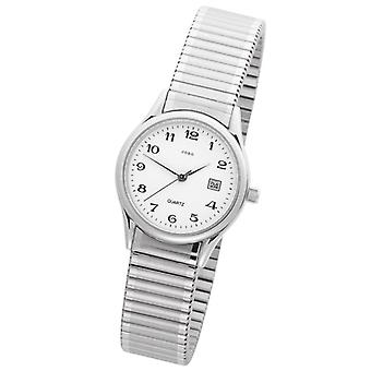 JOBO ladies Bracelet Watch, quartz analog, cable, stainless steel, partially frosted, date indicator, water resistant