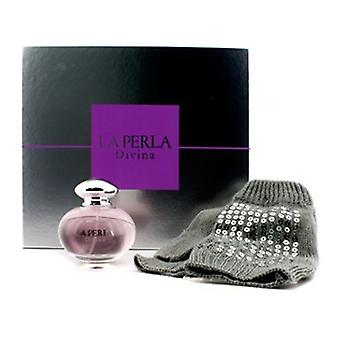 La Perla Divina Glmbiker Coffret: Eau De Toilette Spray 50ml/1.7oz + Gloves with Silver Sequins 2pcs