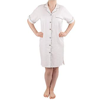 NSW Lounge Spa White Combed Cotton Short Sleeve Nightdress 3541S