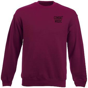 Bestrijding Medic RAMC tekst geborduurd Logo - officiële Heavyweight Sweatshirt