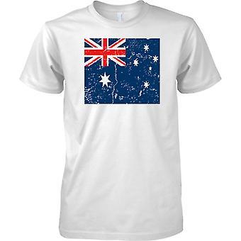 Australië verdrietig Grunge Effect vlag ontwerp - Mens T Shirt