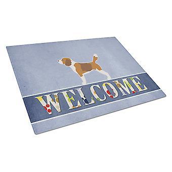 Carolines skatter BB5514LCB Beagle velkommen Glass skjærebrett store