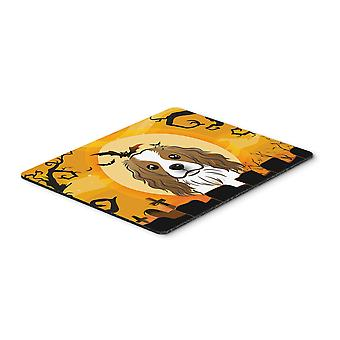 Halloween Cavalier Spaniel Mouse Pad, Hot Pad or Trivet