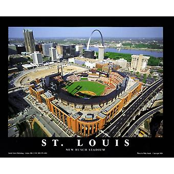 St. Louis Missouri - neue Busch Stadium Poster Print von Mike Smith (28 x 22)