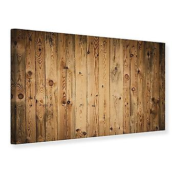 Canvas Print Walnut Wood
