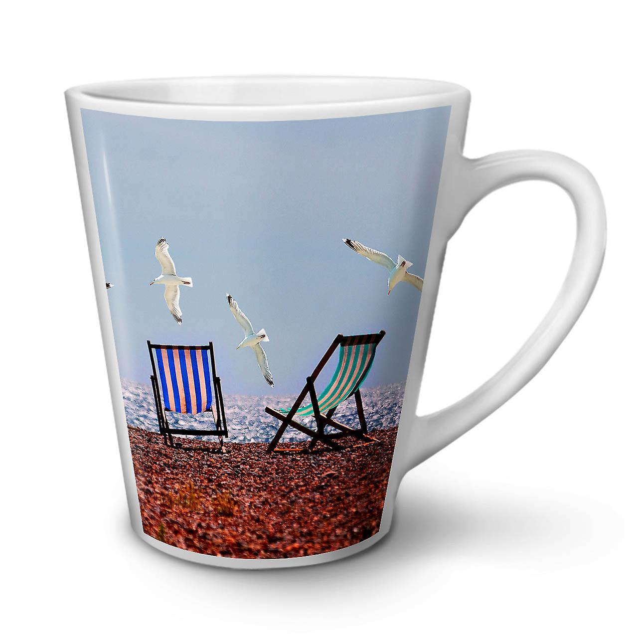 OzWellcoda 12 Sea White New Tea Photo Latte Flock Ceramic Coffee Mug xerdCQoBW