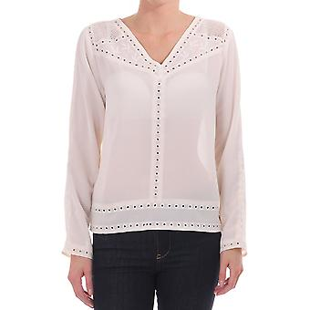Maison Scotch Embroidered Long Sleeve Top