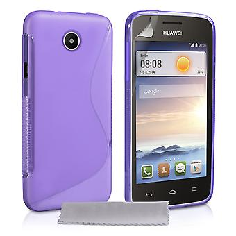 Caseflex Huawei Ascend Y330 Gel S-Line siliconenhoes - paars