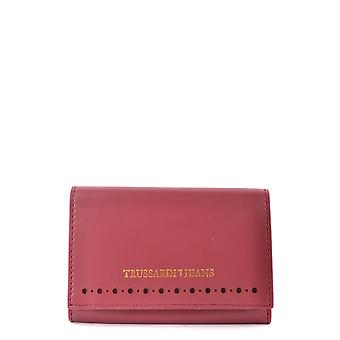 Trussardi jeans for women MCBI299031O red leather wallets