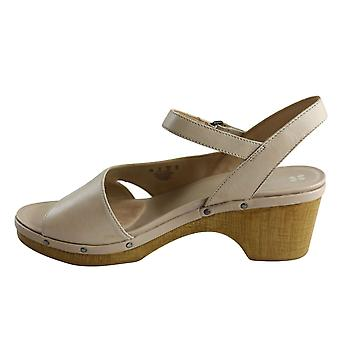 Naturalizer Womens Geneva Leather Open Toe Casual Ankle Strap Sandals