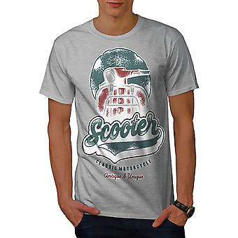 Scooter Classic Old Biker Men GreyT-shirt | Wellcoda