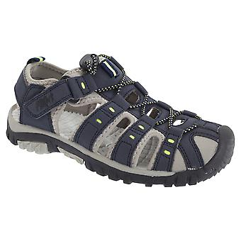 PDQ Youths Boys Toggle & Touch Fastening Synthetic Nubuck Trail Sandals