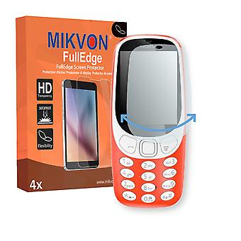 Nokia 3310 (2017) screen protector - Mikvon FullEdge (screen protector with full protection and custom fit for the curved display)