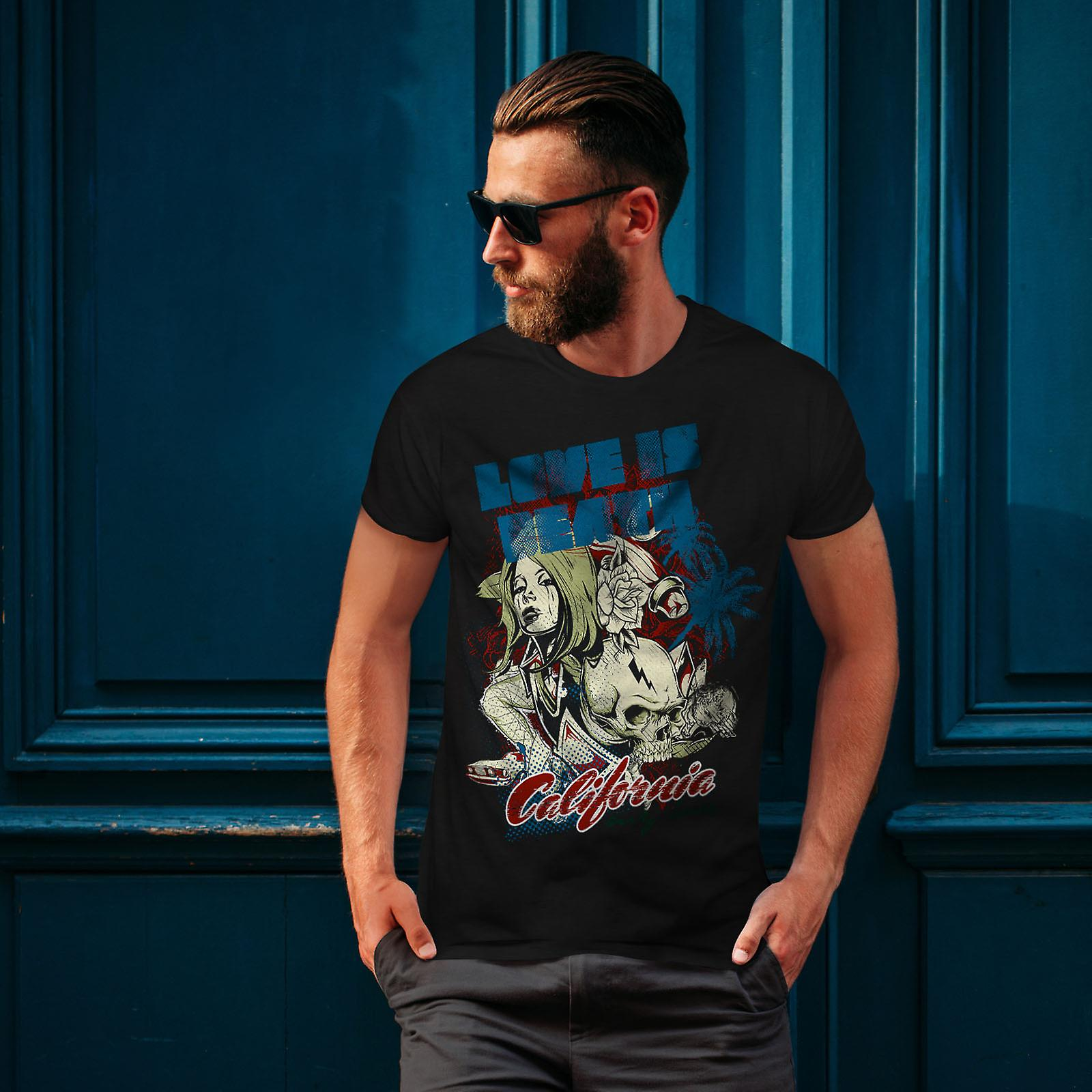 Love Is Death California Men BlackT-shirt | Wellcoda