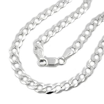 Necklace open curb chain silver 925 45cm